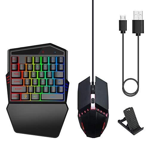 VBESTLIFE Tragbare ergonomische Gaming-Tastatur + Maus und Halter Combo Game Converter Handgelenkstütze für PUBG, unterstützt Verschiedene heiße FPS-Spiele