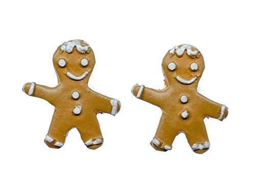 Miniblings Lebkuchenmann Ohrstecker Ohrringe Weihnachten Lebkuchen Zuckerguss - Handmade Modeschmuck I Ohrringe Stecker Ohrschmuck