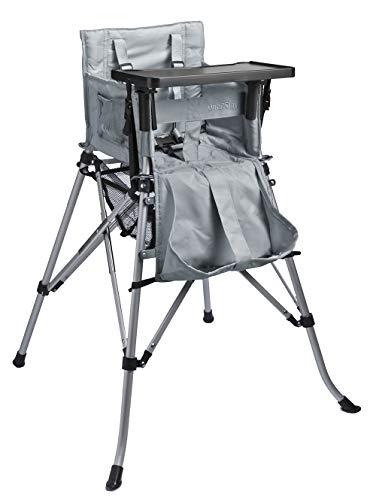 FemStar P71846-H-DT One2Stay 2.0 opvouwbare hoge stoel met afneembare eettafel, zilver