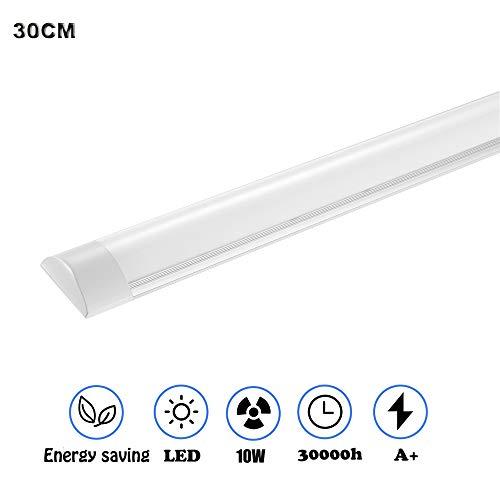 LED Leiste, Sararoom LED Lichtleiste 10W LED Unterbauleuchte 30CM led licht Neutralweiß1200 Lumen 120° Abstrahlwinkel für Badzimmer Wohnzimmer Küche Garage Lager Werkstatt