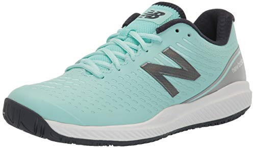 New Balance Women's 796 V2 Hard Court Tennis Shoe, Bali Blue/Silver, 8.5 XW US