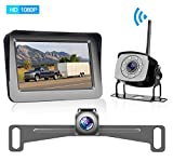 Yakry Y23 HD 1080P Digital Wireless Dual Backup Camera Hitch Rear View Camera for RVs,Trailers,Trucks,5th Wheels,Cars 5''Monitor with Highway Monitoring System IP69K Waterproof Super Night Vision