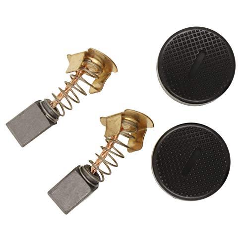 OTOTEC CB430 - Cepillos de carbón con tapas de repuesto compatibles con Makita BGA450 BGA452 DGA452