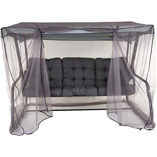 PATIO 3-Sitzer Hollywoodschaukel Celebes Plus Gartenschaukel Sitzpolster Seitenkissen Sonnendach Moskitonetz Klappbar Liegefunktion 170 cm