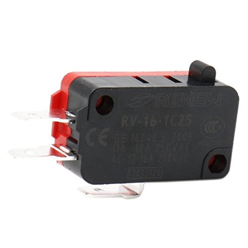 Heschen Micro interruptor V-16-1C25 SPDT Pin Button tipo 16A 250VAC 5pcs