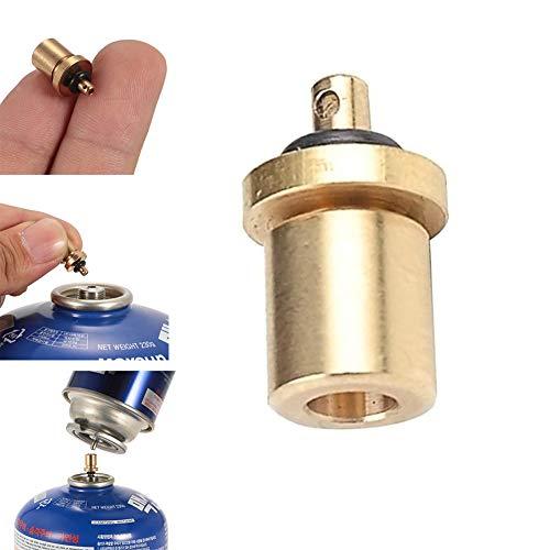 fan pin dian zi 1 x adapter do napełniania butli gazowych na kemping, do użytku na zewnątrz, na butle gazowe, adapter do napełniania, akcesoria turystyczne, kanister do napełniania butanu