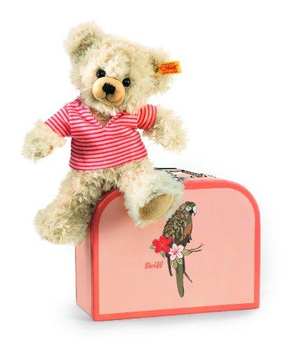 Steiff 111341 - Teddybär Blond im Koffer, 22 cm