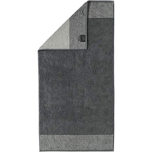 Cawö Home Handtücher Luxury Home Two-Tone 590 Schiefer - 77 Handtuch 50x100 cm