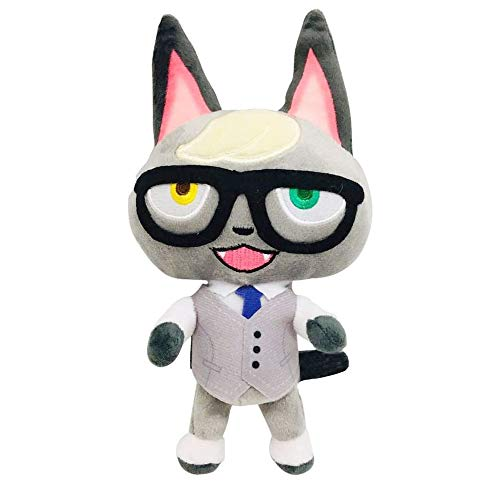 Soft Plush Doll 8-Inch Animal Crossing Game Character Series Doll Anime Imagination Plush Doll Birthday Party Boys and Girls Gift Doll (Raymond)