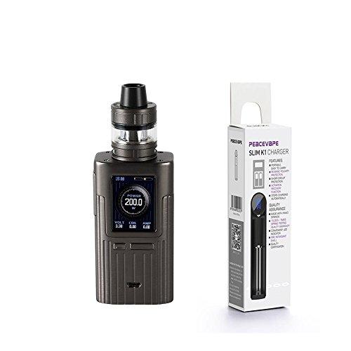 Autentico Joyetech ESPION 200W with ProCore X TC MOD Kit (Grigio) Sigaretta elettronica con PEACEVAPE™ 18650 USB Caricatore