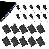 CKANDAY Juego de 10 pares de tapones antipolvo USB C para conector de carga y conector de auriculares tipo C, almohadillas protectoras de silicona compatibles con Samsung S10, Note, Pixel, One Plus