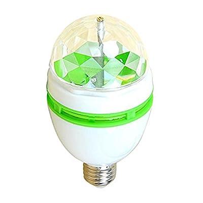 USA 3W RGB Led Disco Light Bulb Rotating Ball Lamp Disco Party Bulb Bar Club Effect Stage Color Light Ball Bulb