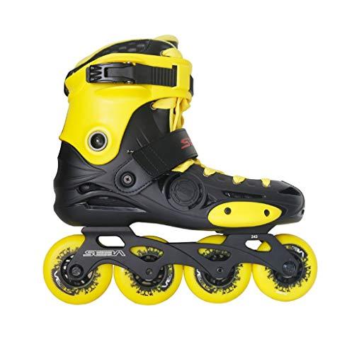 XZ15 Adulto Patines en línea, Amarillo Principiante Sola Fila Patines, los Hombres y de Las Mujeres Roller Skates Profesionales (Color : Yellow, Size : EU 35/US 4/UK 3/JP 22.5cm)