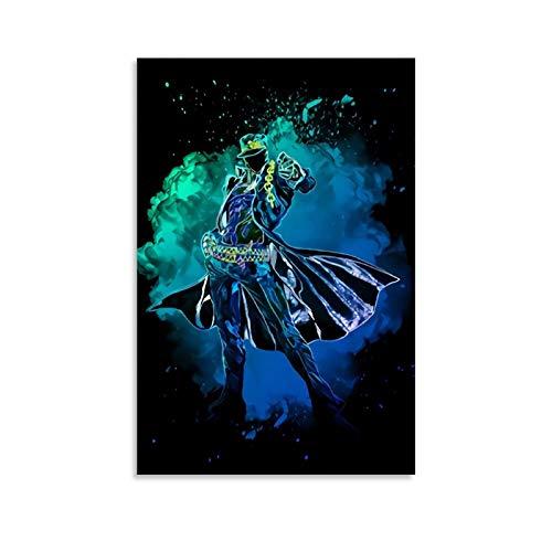 DRAGON VINES Póster de héroe Soul JoJoJo's Bizarre Adventure Kujo Jotaro Art Print Art Póster impresión Art Art Decor Home Art Wall Art 20 x 30 cm