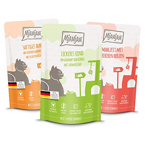 MjAMjAM Natural Wet Cat Food Snackbox para Gatos, 125 G, 1,5 kg, 1500