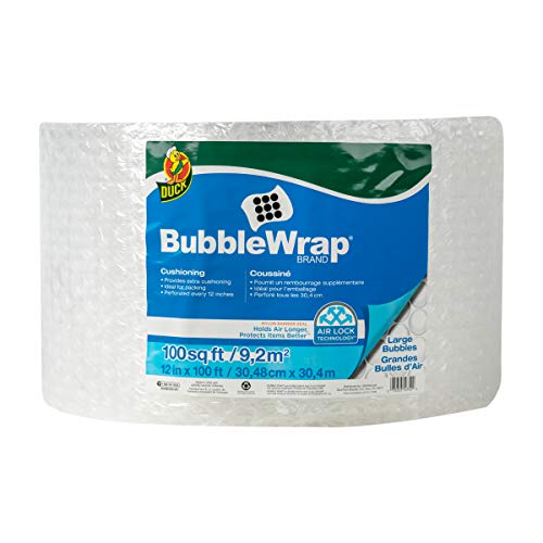 Duck Brand Large Bubble Wrap Roll, 5/16