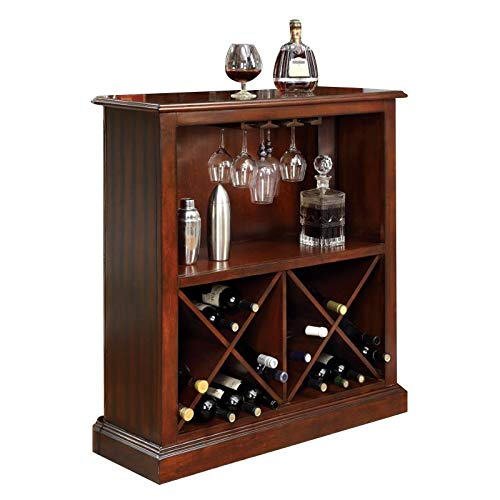 Furniture of America Myron Traditional Wood Wine Rack in Dark Cherry