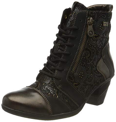 Remonte Damen D8794 Mode-Stiefel, Antik/Schwarz/Schwarz/Schwarz-Gold/ 02, 42 EU