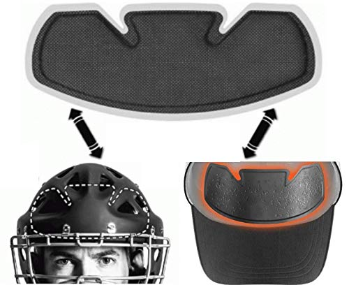 No Sweat Shock Doctor Baseball Hat & Batting Helmet Liner - Absorbs Dripping Sweat/Moisture Wicking Sweatband | Prevent Sweat Stains/Ultimate Hat Saver - (Official, Pro, Softball) (12 Pack)