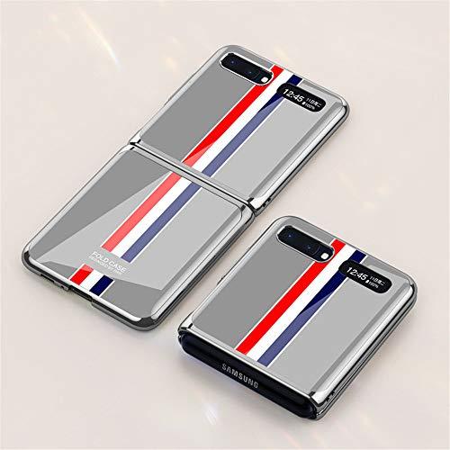 INSOLKIDON Compatible con Funda Samsung Galaxy Z Flip Case PC Cáscara Dura Resistente a los arañazos Ultrafino Teléfono Protector Cáscara Doblar Combinación Cubierta Protectora contraportada (1)