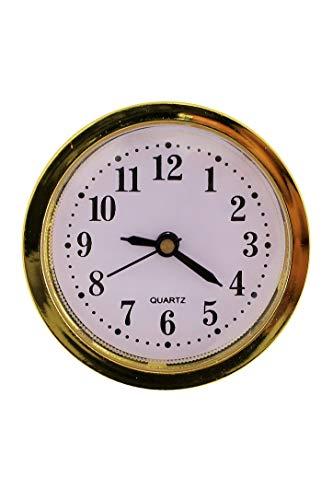 HSD Clock Einbau-Uhr Einsteckuhrwerk Einsteckwerk Einbauuhr ARABISCH Gold Ø 50 mm #12 (Gold)