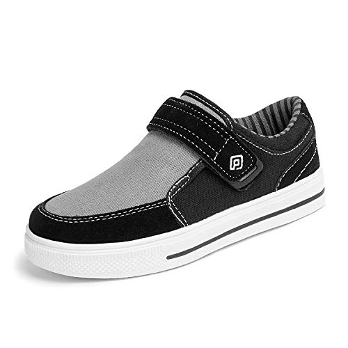 DREAM PAIRS Little Kid Boys' 160479-K Black Light Grey School Loafers Sneakers Shoes - 1 M US Little Kid