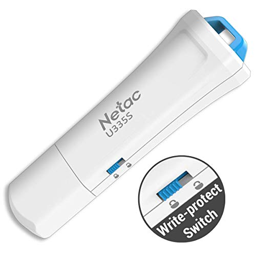 USB3.0 Flash Drive with Write Protection Switch - 16GB Netac U335S USB 3.0 Hardware Locked Security Thumb Pen Drive Memory Stick