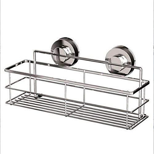 BGROESTWB Estante de Baño Impermeable del Acero Rack Adhesivo Ducha Estante Organizador Caddie de Almacenamiento de baño - Cocina para Sala de Estar (Color : Silver, Size : Free Size)