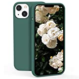 ZELAXY Funda de Silicona Compatible con iPhone 13 2021 Carcasa Rigida Antigolpes con Interior de Microfibra Fina Suave y Fácil Agarre –Pino Verde