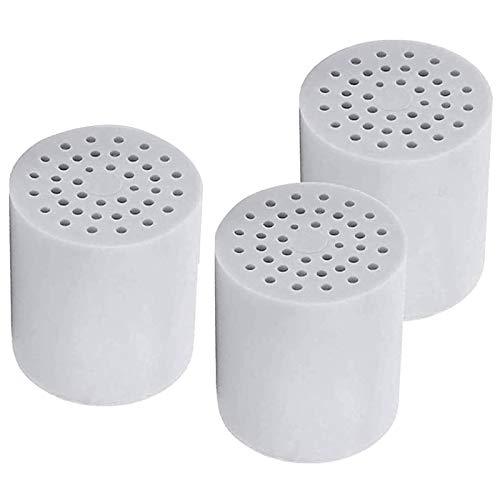Nrpfell 3 Packung mit 15 Stufen Universell Dusche Wasser Filter Patronen Entfernt Chlor, Mikroorganismen und Hartes Wasser