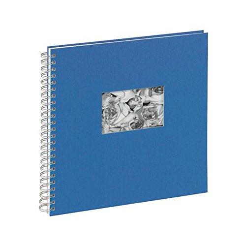Pagna 13938-06 Passepartout-Spiralalbum, 310 x 320 mm, 40 Seiten, Leineneinband mit Passepartout, weißer Fotokarton, blau