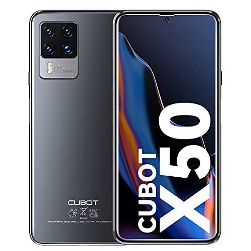 CUBOT X50 Cellulari Offerte, 8GB RAM + 128GB ROM/256GB Android 11 Smartphone, 6.67 Pollici FHD+ Cellulare, 4500 mAh Octa Core, Quad Camera 32MP + 64MP 4G Telefono Dual SIM, Face ID, NFC, GPS (nero)