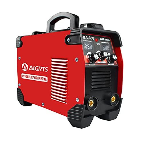 Máquina de soldadura de electrodos, soldador inverter de acero inoxidable, con mango portátil, duradero