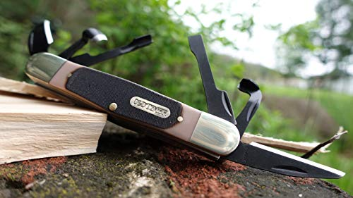 Old Timer 24OT Splinter Carvin' 6in Traditional Folding Whittling Knife with 1.5in Detail Blade and Sawcut Handle for Outdoor, Hunting, Camping and EDC