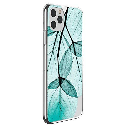 Oihxse Clair Case Compatible avec iPhone 6 Plus/6S Plus Coque en Silicone Transparent Motif Fleur Floral Feuilles Motif pour Filles Femmes Antichoc Housse Protection TPU Bumper Cover(8)