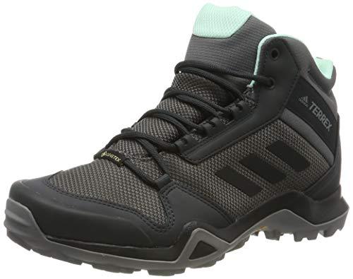 adidas Damen Terrex AX3 MID GTX W Trekking-& Wanderstiefel, Grau (Grey/Core Black/Clear Mint 0), 38...