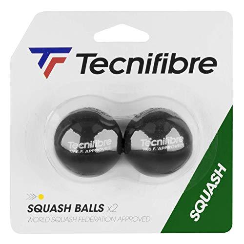 TECNIFIBRE - 2 Squashbälle Gelber Punkt, TF_Ball_Yellow_2balls, Nicht zutreffend