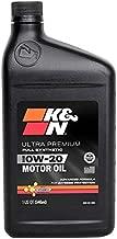K&N - 104097 Motor Oil: 0W-20 Full Synthetic Engine Oil: Ultra Premium Protection, 1 Quart