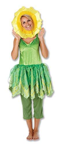 Rubbies - Disfraz de girasol para mujer, talla UK 8-10 (889128S)