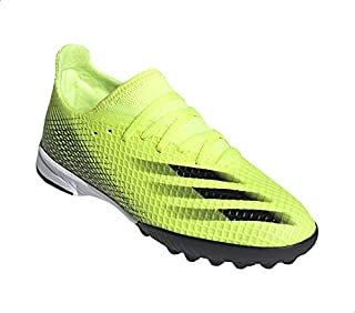 Adidas X Ghosted.3 Textile Two-Tone Printed Front Three Stripe Lace-Up Turf Shoes for Boys 35.5