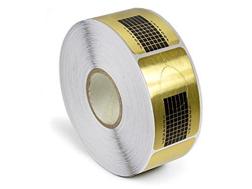 Modellier Schablonen Gold - Selbstklebend - Nageldesign Gel Acryl Modellage - 500er Pack