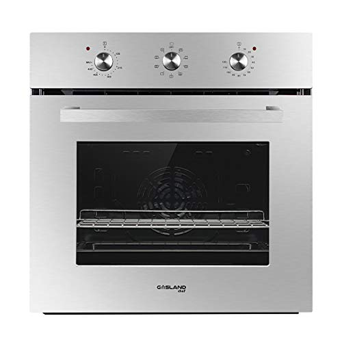 "Single Wall Oven, GASLAND Chef ES609MS 24"" Built-in Electric Wall Oven, 240V 3200W 2.3Cu.f Convection Wall Oven with Rotisserie, 9 Cooking Modes, Mechanical Knob Control, Transparent Window, Stainless"