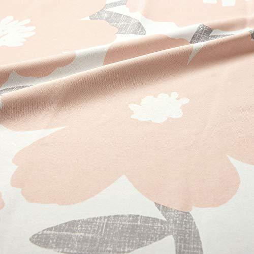 パーフェクトスペースカーテン館「日本製」2級遮光カーテン花柄[100サイズから選べる](幅)100cm(丈)135cm×2枚【北欧風遮光カーテン~ソポ~ピンク】