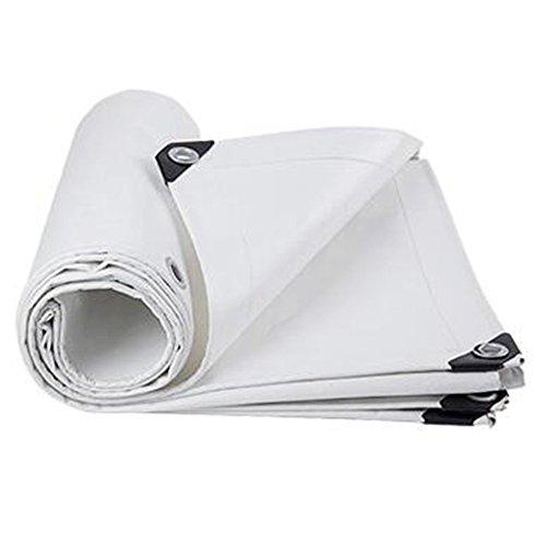 MXueei Lona Alquitranada ZfgG regenplaat, waterdicht, stof, wit, warmhoudplaat van kunststof, Hangar-stof, ultralichte constructie