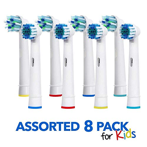 Replacement Brush Heads Compatible With Oral B- 8 Pack of 4 Cross Action & 4 Precision Clean Electric Toothbrush Replacement Generic Refill Kit for Kids & Adults