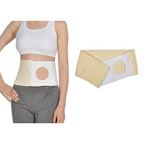 Cintura addominale per portatori stomia ernia con supporto a guaina tasca per la stomia con apertura da 8 cm, previene l'ernia peristomale
