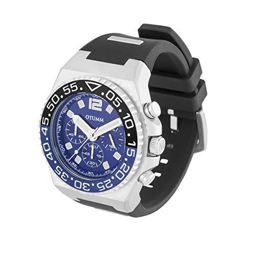 Otumm Athletics XAT2CHST01 - Reloj unisex con cronógrafo (45 mm, correa de silicona negra)