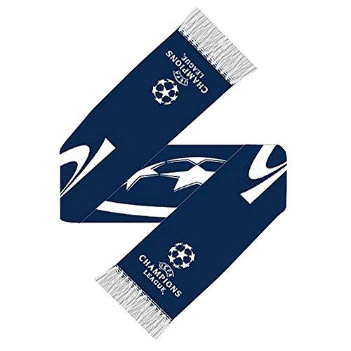 UEFA Champions League Gestrickt Fußball Wappen Schal - Marineblau/Weiß, One size