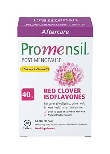 Promensil Menopause Post Menopause Red Clover Isoflavones 40 mg plus Calcium und Vitamin D3 30 Stück, 1er Pack (1 x 56 g)