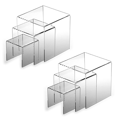 Adorox Top Quality (2 Set) Clear Acrylic Display Riser